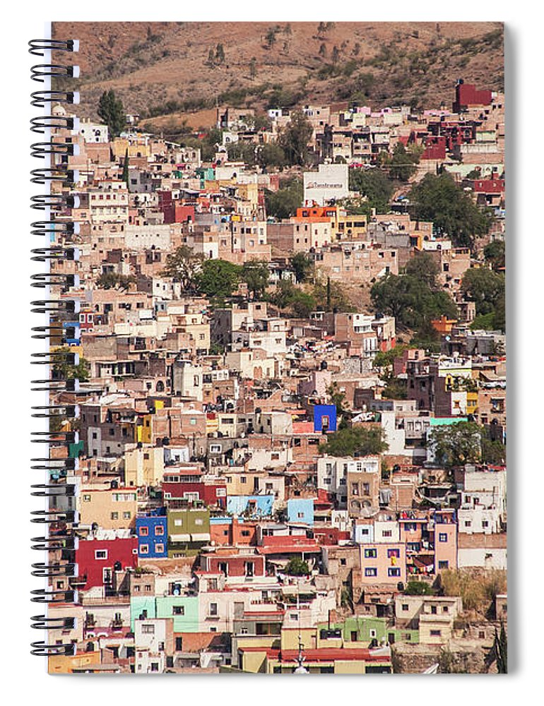 Scenics Spiral Notebook featuring the photograph Guanajuato by Maryann Flick