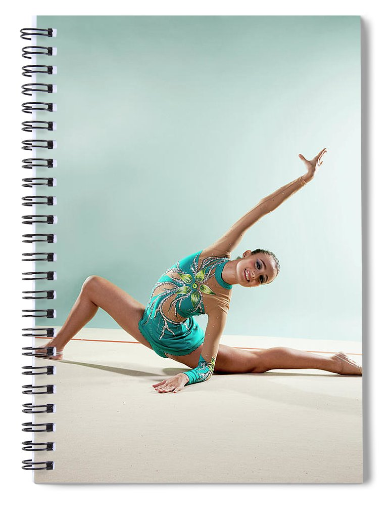 Human Arm Spiral Notebook featuring the photograph Gymnast, Smiling, Bending Backwards by Emma Innocenti