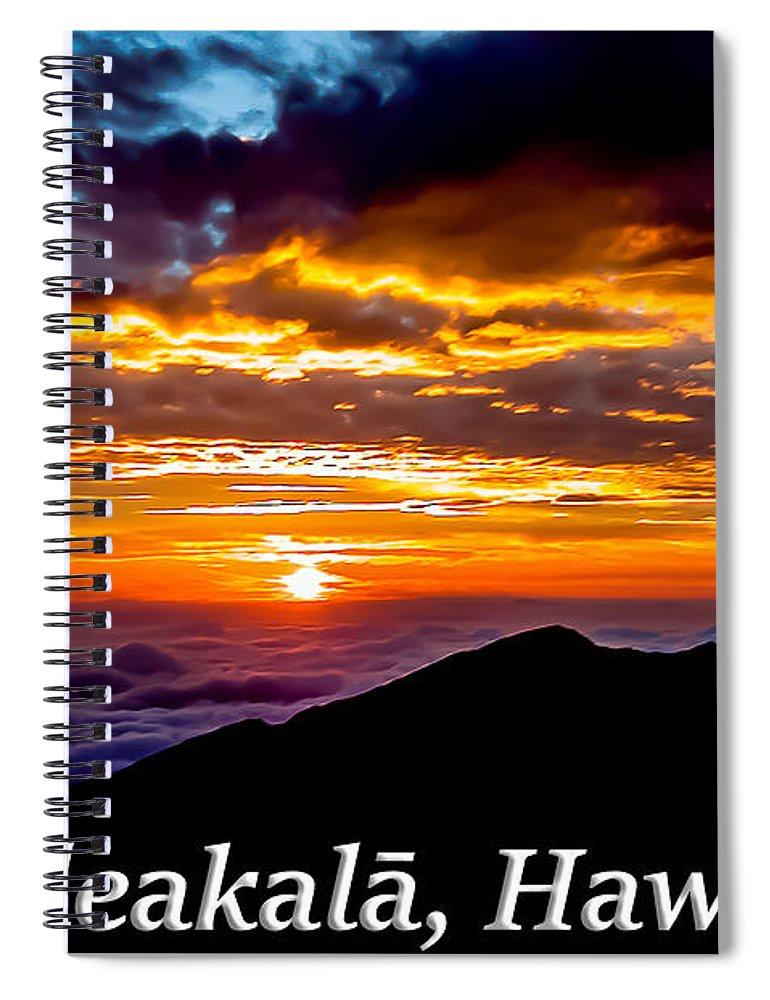 Haleakala Spiral Notebook featuring the photograph Haleakala Hawaii by G Matthew Laughton