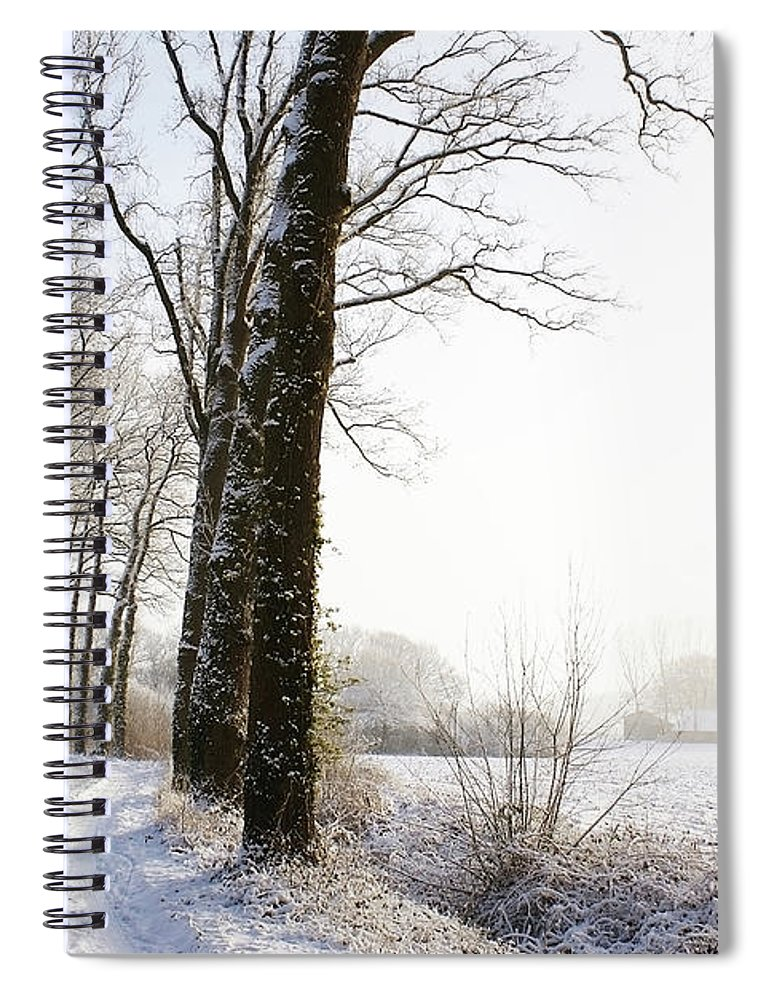 Tranquility Spiral Notebook featuring the photograph Half Black, Half White by Bob Van Den Berg Photography