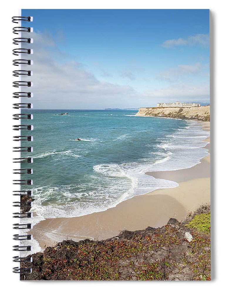 Water's Edge Spiral Notebook featuring the photograph Half Moon Bay California by Stevegeer