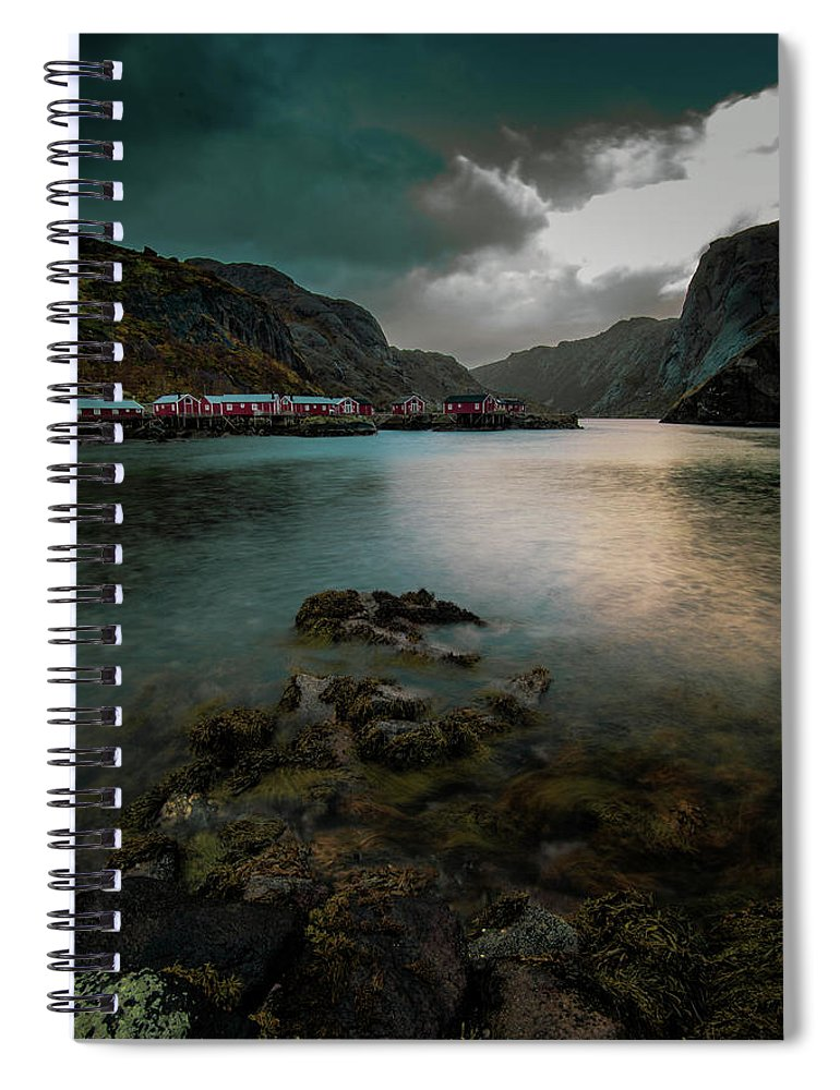 Arctic Spiral Notebook featuring the photograph Hamnoy, Lofoten Islands by Kai Mueller