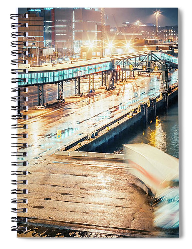 Industrial District Spiral Notebook featuring the photograph Harbor Area by Peeterv