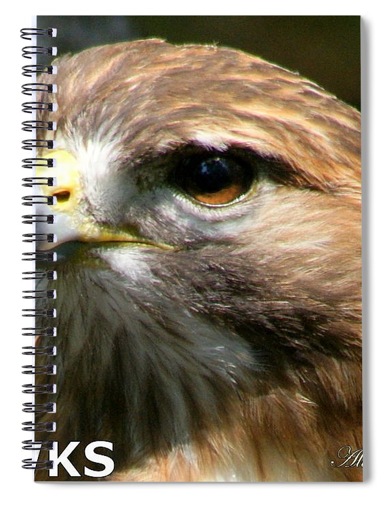 Hawks Spiral Notebook featuring the photograph Hawks Mascot 2 by Larry Allan