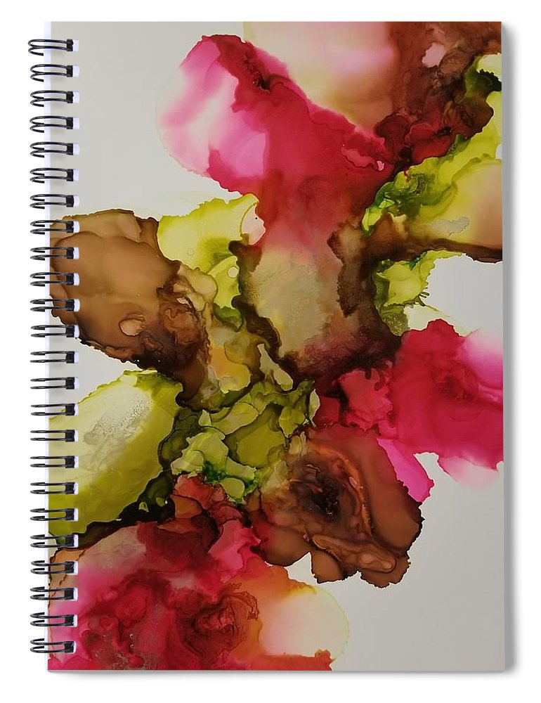Art Spiral Notebook featuring the painting He loves me not by Paulina Roybal