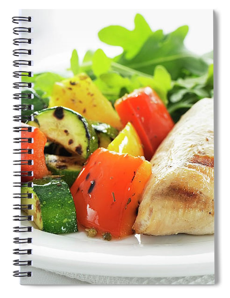 Chicken Meat Spiral Notebook featuring the photograph Healthy Meal by Easybuy4u
