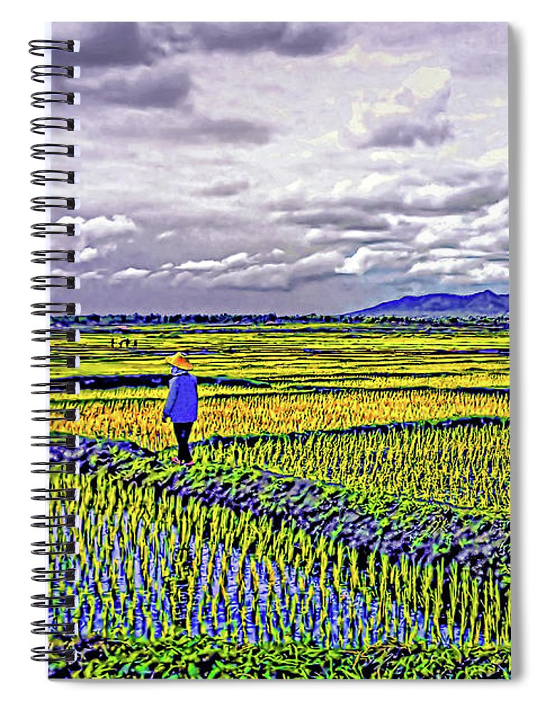 Rice Spiral Notebook featuring the photograph Heartland by Steve Harrington