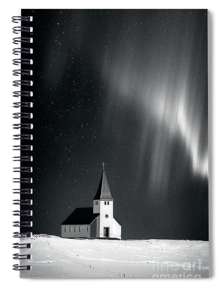 Kremsdorf Spiral Notebook featuring the photograph Heaven's Light by Evelina Kremsdorf