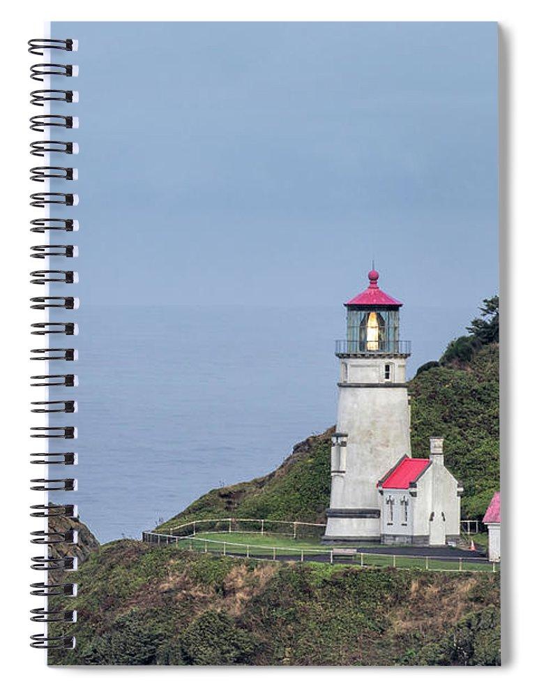 Heceta Head Lighthouse Spiral Notebook featuring the photograph Heceta Head Lighthouse by Jurgen Lorenzen
