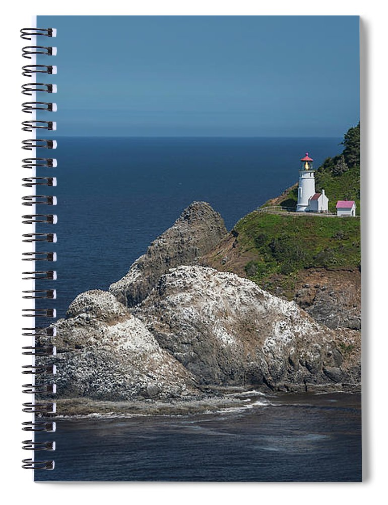 Scenics Spiral Notebook featuring the photograph Heceta Head Lighthouse, Oregon Coast by Jeff Hunter