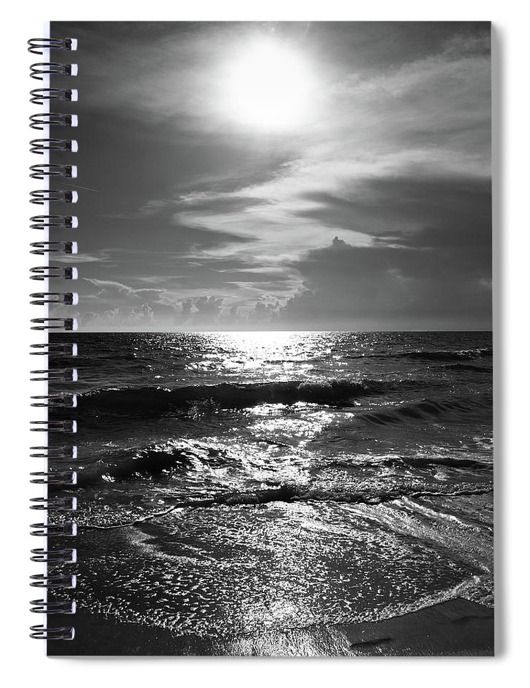 Water's Edge Spiral Notebook featuring the photograph Helios by Robert S. Donovan