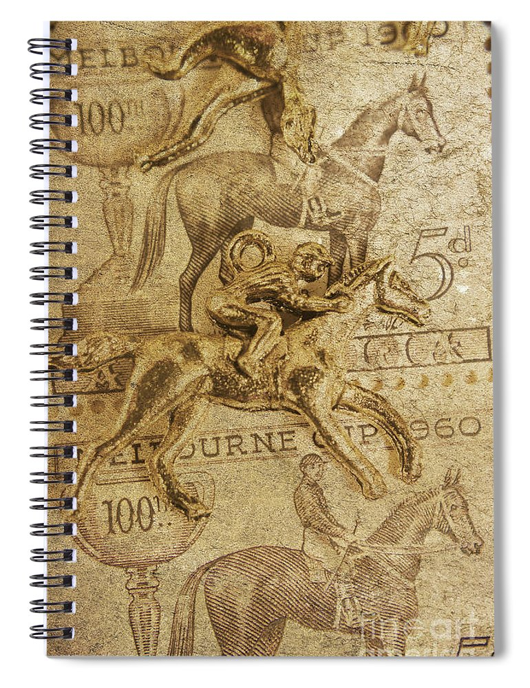 Vintage Spiral Notebook featuring the photograph Historic Horse Racing by Jorgo Photography - Wall Art Gallery