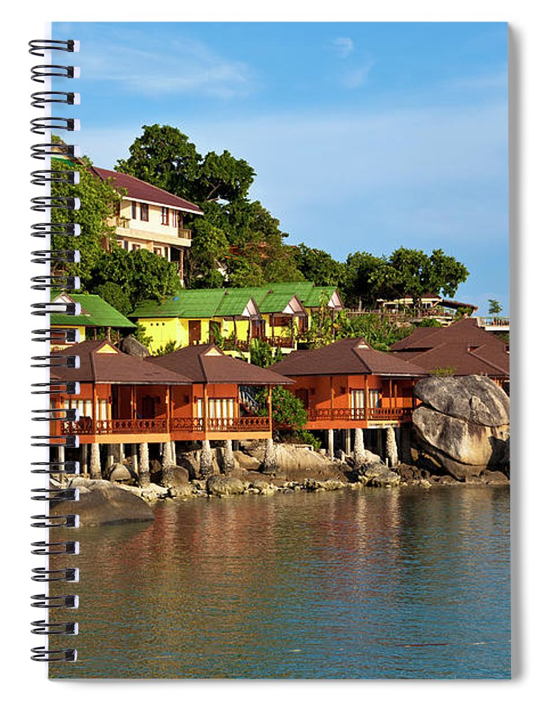 Vacations Spiral Notebook featuring the photograph Holiday Villas by 35007
