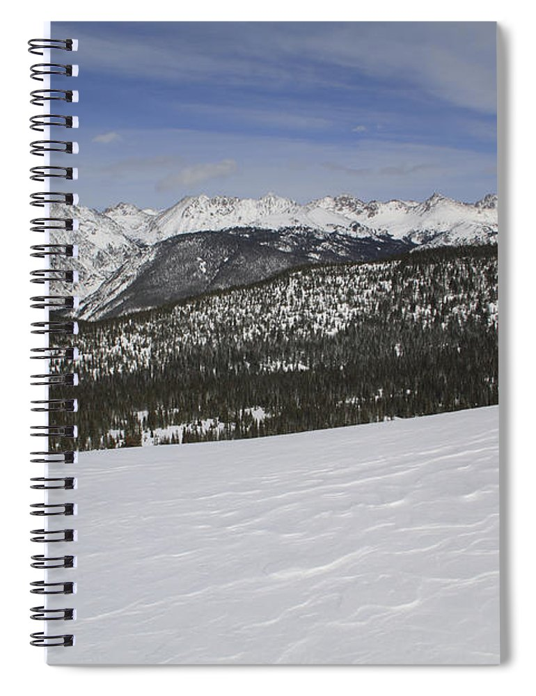 Scenics Spiral Notebook featuring the photograph Holy Cross Wilderness Area In Winter by John Kieffer