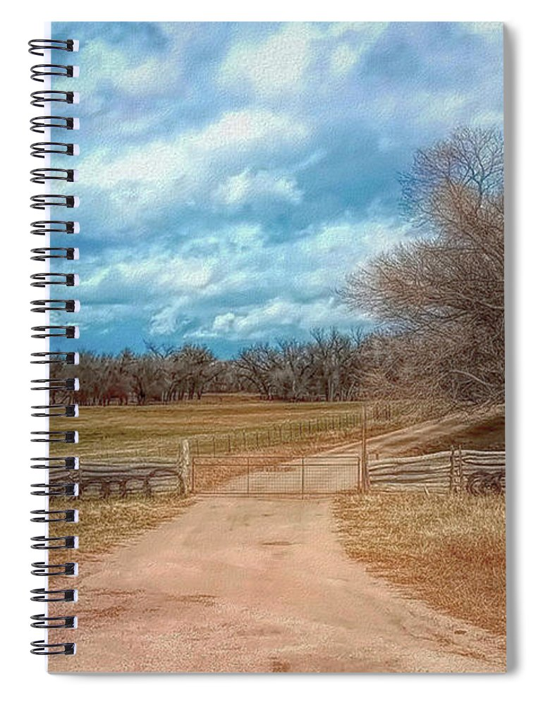 Colorado Spiral Notebook featuring the photograph Home On The Range by Mike Braun