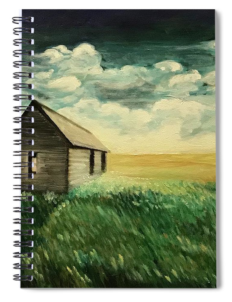 Oil Painting Spiral Notebook featuring the painting Homestead by Boni Arendt