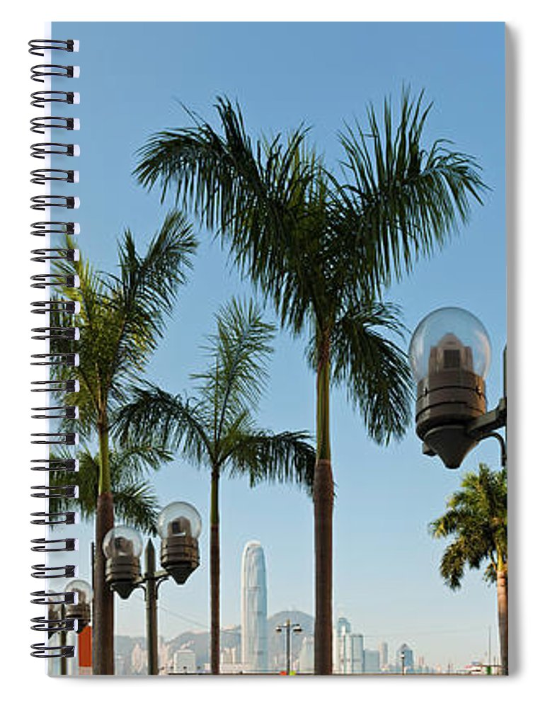 Chinese Culture Spiral Notebook featuring the photograph Hong Kong Clock Tower Ferry Terminal by Fotovoyager