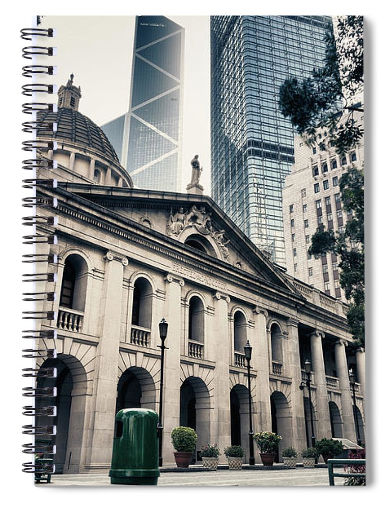 Chinese Culture Spiral Notebook featuring the photograph Hong Kong Legislative Council by Laoshi