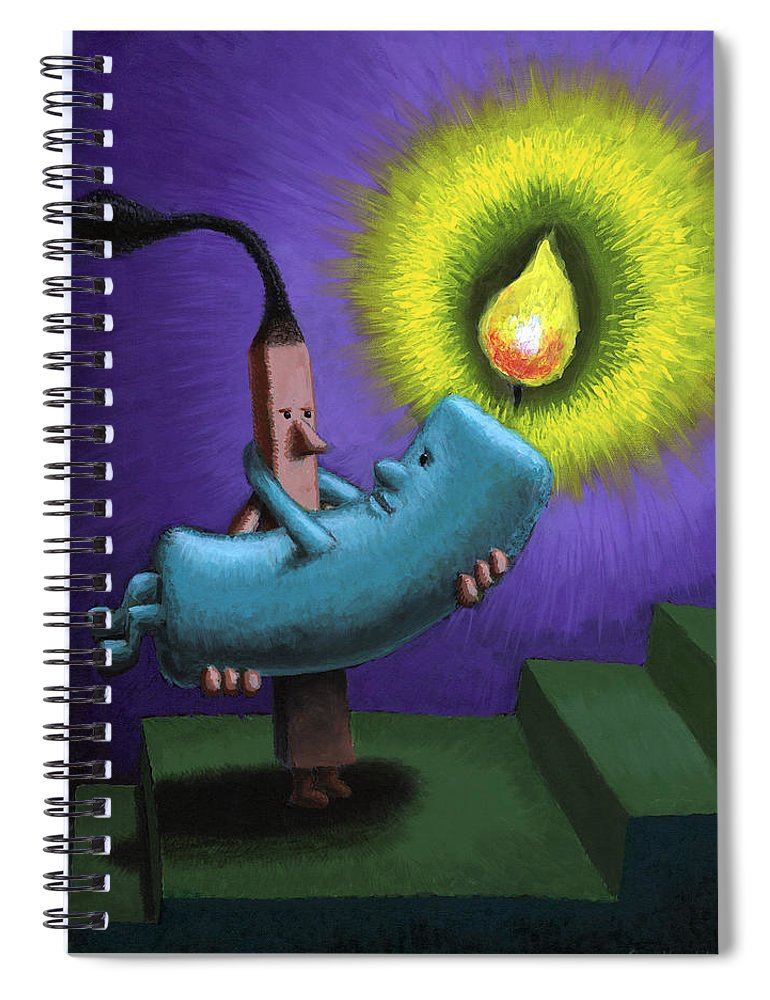 Candle Spiral Notebook featuring the painting Hope by Sam Hurt