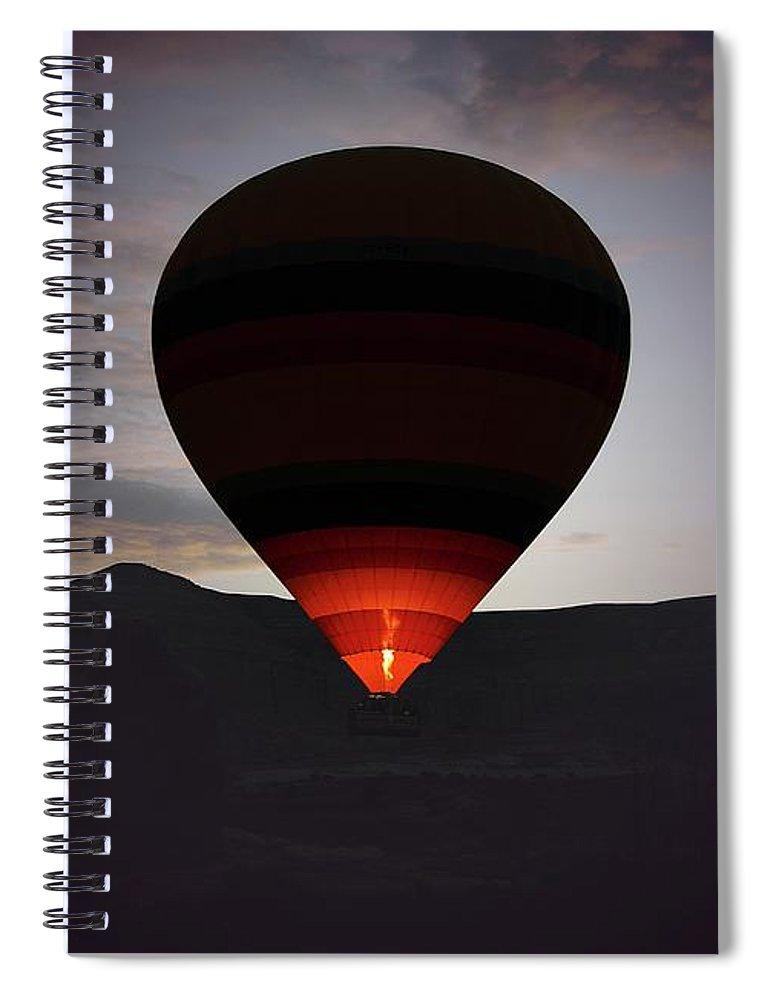 Hot Air Balloon Spiral Notebook featuring the photograph Hot Air Ballon by M.cantarero