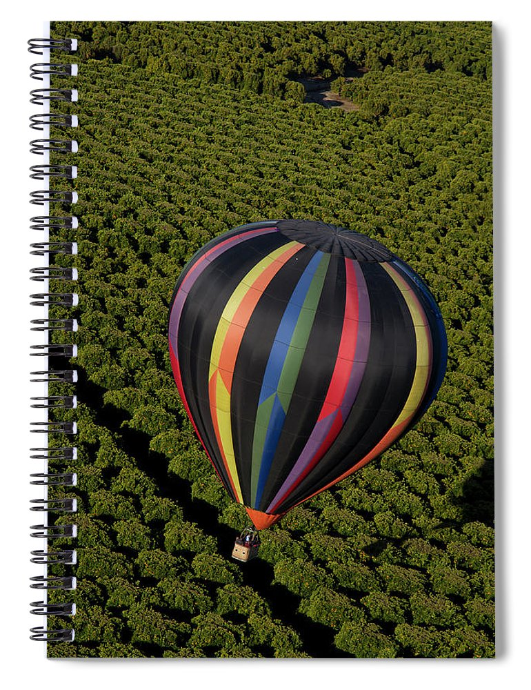 Tranquility Spiral Notebook featuring the photograph Hot Air Balloon by Holly Harris