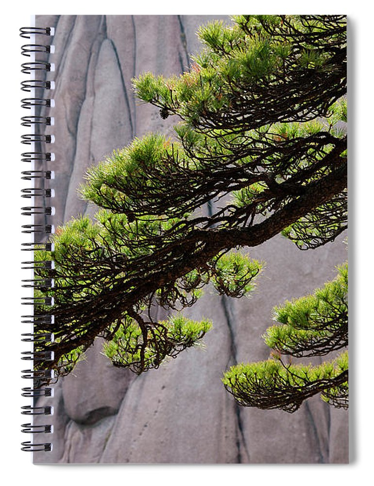 Chinese Culture Spiral Notebook featuring the photograph Huang Shan Landscape, China by Mint Images/ Art Wolfe