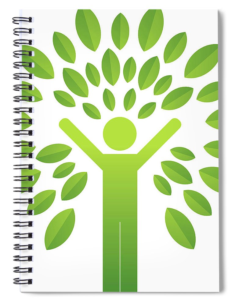 Environmental Conservation Spiral Notebook featuring the digital art Human Tree by Lvcandy
