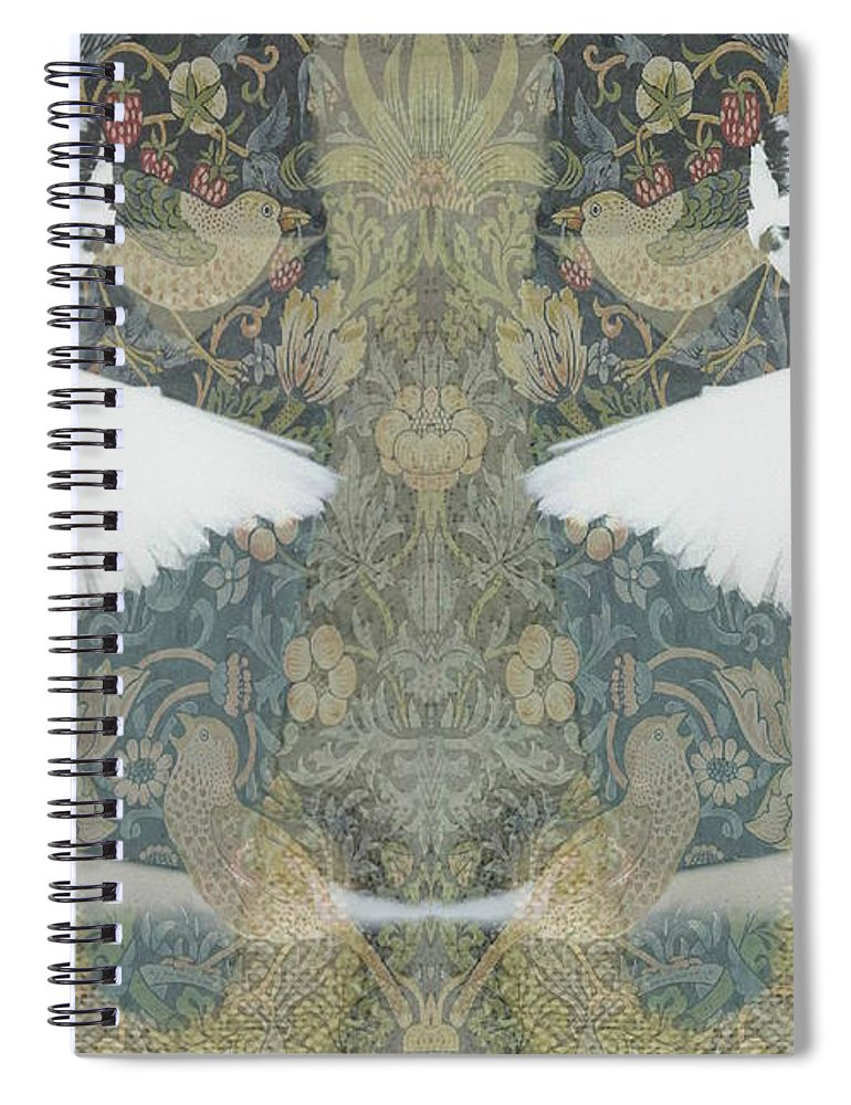 Ballet Spiral Notebook featuring the mixed media I Can't Tell The Bottom From The Top by Paul Lovering