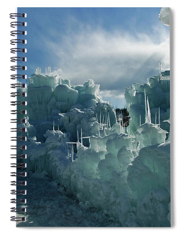 Iceberg Spiral Notebook featuring the photograph Ice Castle by Robin Wilson Photography