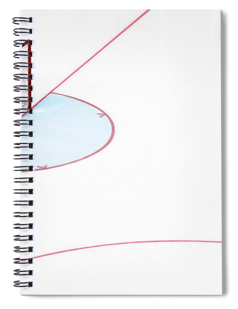 Sport Spiral Notebook featuring the photograph Ice Hockey Goal Net And Empty Rink by David Madison