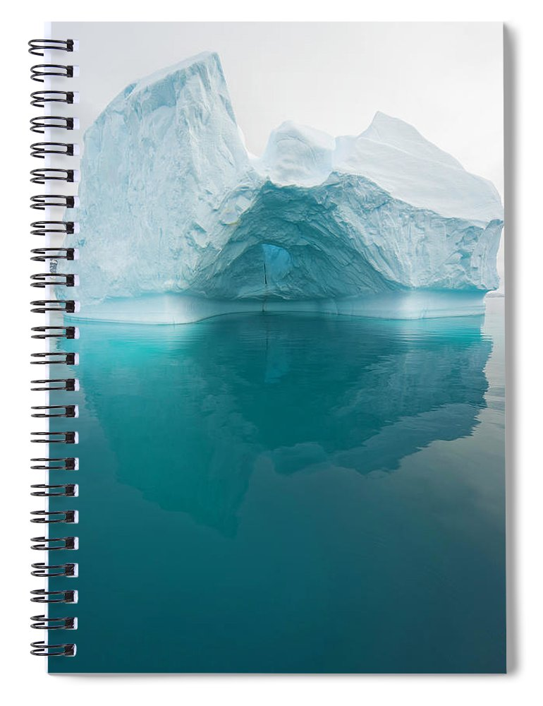 Iceberg Spiral Notebook featuring the photograph Iceberg And Reflections, Antarctic by Eastcott Momatiuk