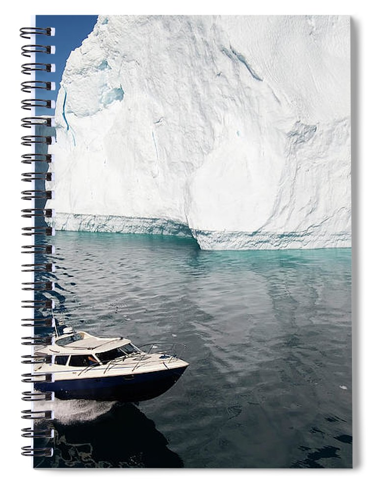 Scenics Spiral Notebook featuring the photograph Ilulissat, Disko Bay by Gabrielle Therin-weise