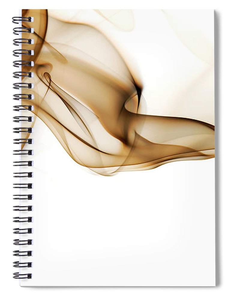 Art Spiral Notebook featuring the photograph Image Of High Contrast Smoke Up Against by Guarosh
