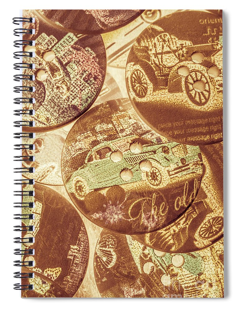Retro Spiral Notebook featuring the photograph In Fashion Of Classic Cars by Jorgo Photography - Wall Art Gallery