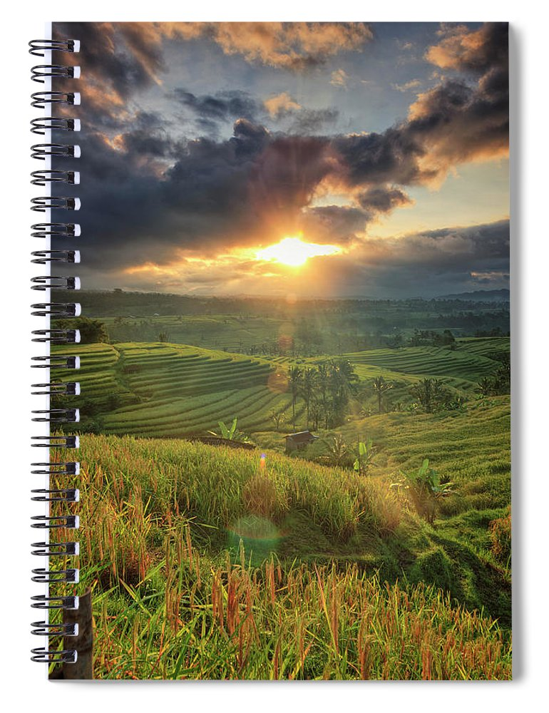 Tranquility Spiral Notebook featuring the photograph Indonesia, Bali, Jatiluwih Rice Terraces by Michele Falzone