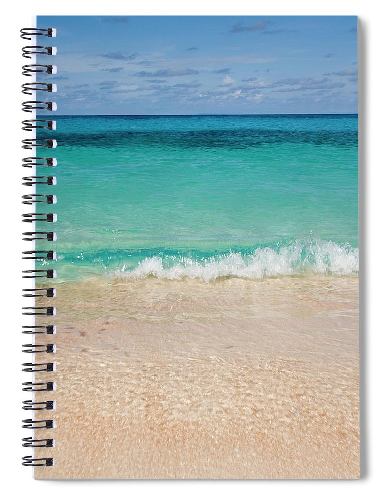 Water's Edge Spiral Notebook featuring the photograph Indonesia, Waves Rolling In From Indian by Joe Mcbride