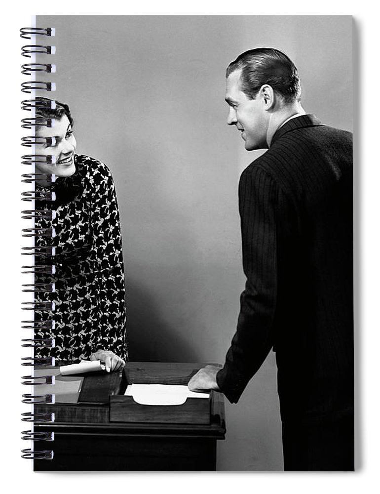 Corporate Business Spiral Notebook featuring the photograph Indoor Business Scene by George Marks