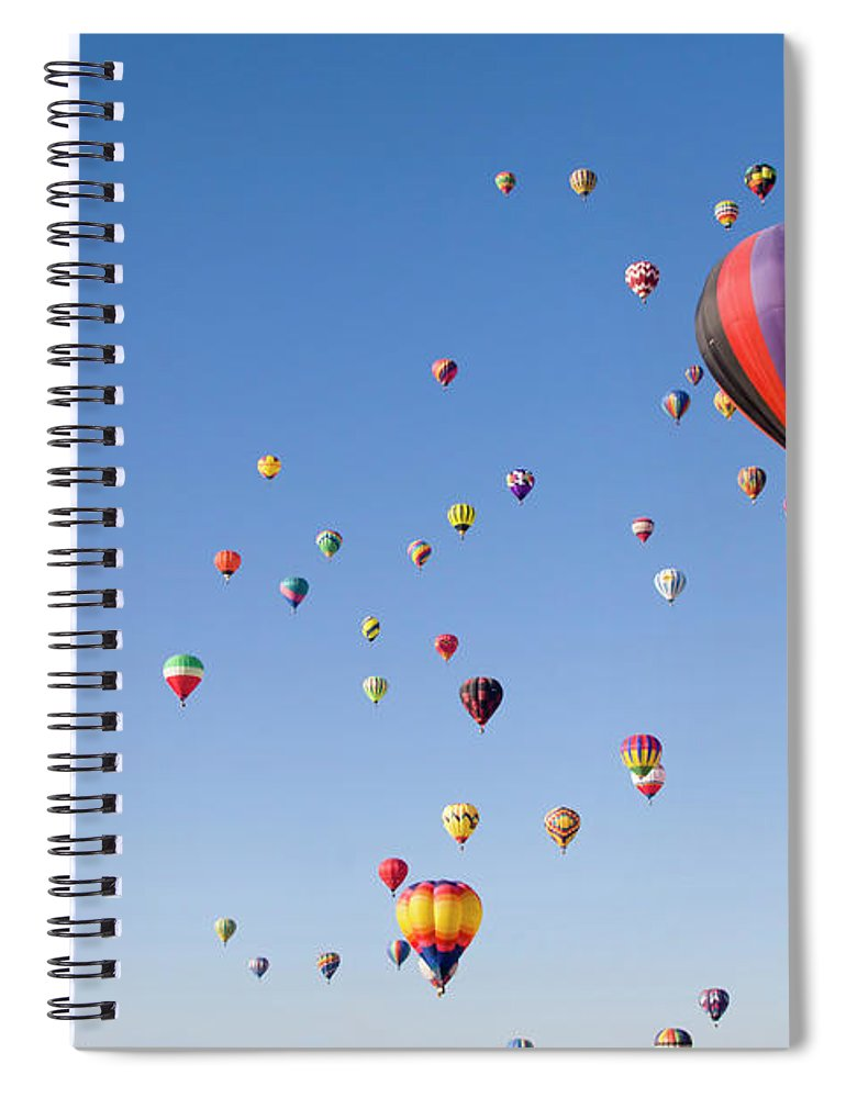 Event Spiral Notebook featuring the photograph International Balloon Fiesta by Prmoeller