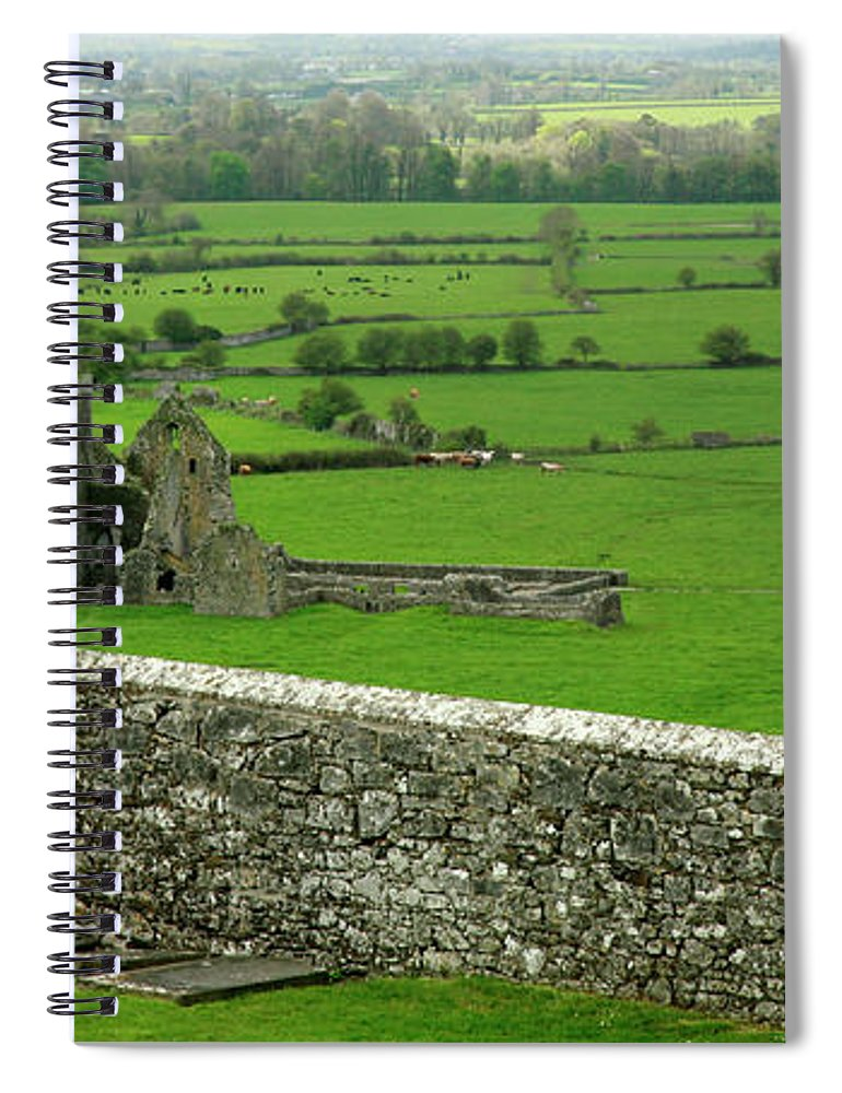 Scenics Spiral Notebook featuring the photograph Ireland Country Scape With Castle Ruins by Njgphoto