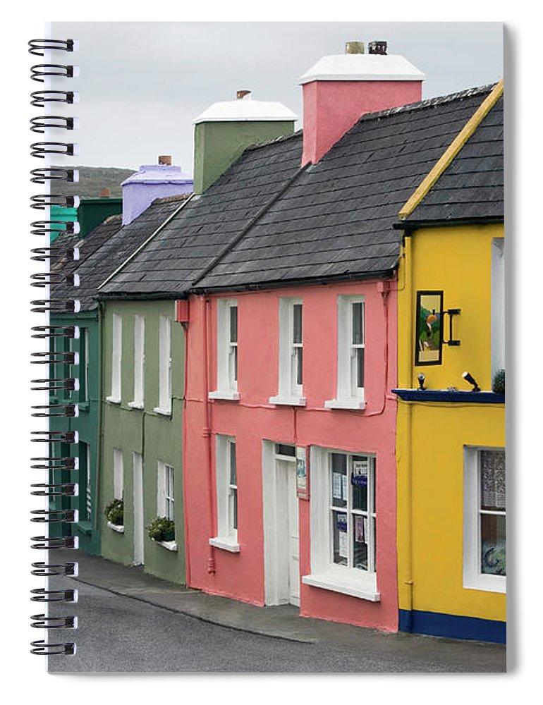 Row House Spiral Notebook featuring the photograph Ireland, County Cork, Beara Peninsula by Glen Allison