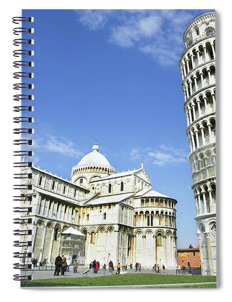 City Spiral Notebook featuring the photograph Italy, Tuscany, Leaning Tower Of Pisa by Alexander Hassenstein