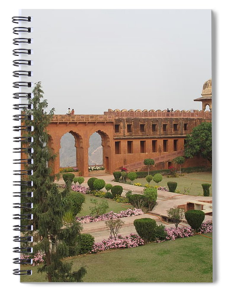 Arch Spiral Notebook featuring the photograph Jaigarh Fort, Amer, Jaipur, Rajasthan by Marianna Sulic