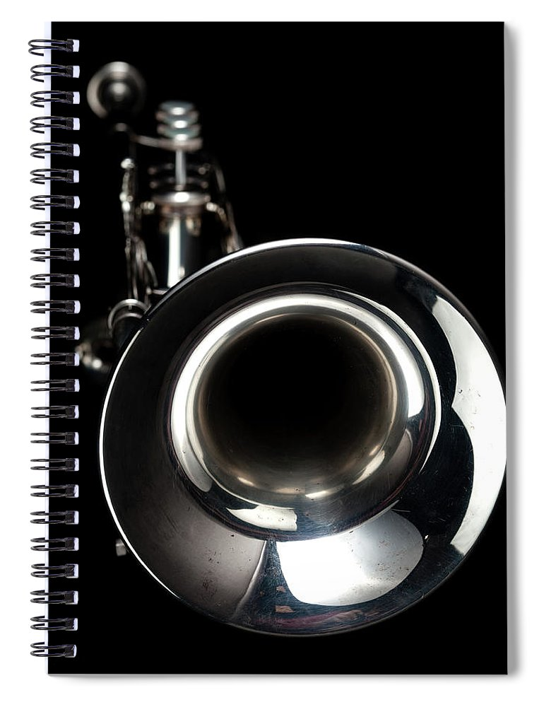 Music Spiral Notebook featuring the photograph Jazz Music Trumpet by Photovideostock