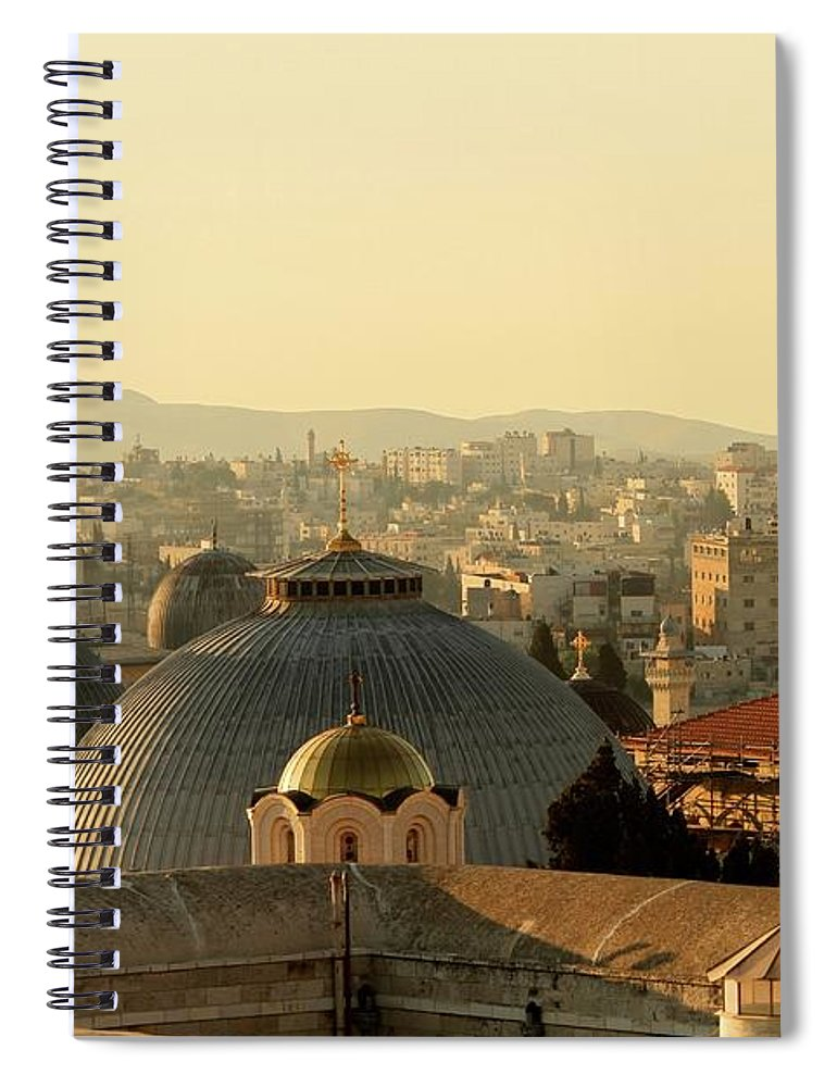 West Bank Spiral Notebook featuring the photograph Jerusalem Churches On The Skyline by Picturejohn