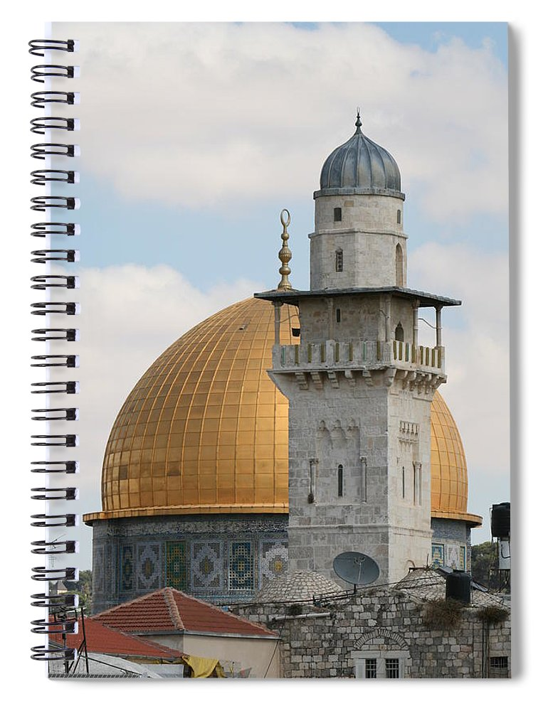 Arch Spiral Notebook featuring the photograph Jerusalem by Yelena Strokin