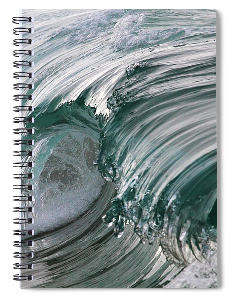 Scenics Spiral Notebook featuring the photograph Jibbon Wave by Ewen Charlton