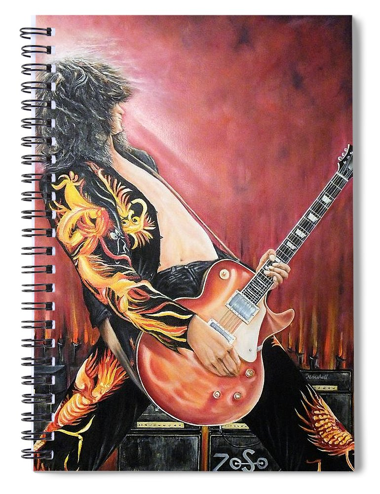 Jimmy Spiral Notebook featuring the painting Jimmy by Lisa Cini