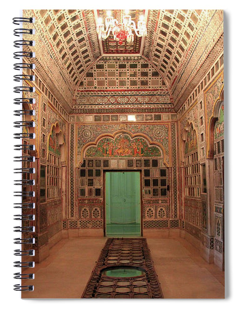 Arch Spiral Notebook featuring the photograph Jodhpur Fort Palace by Milind Torney