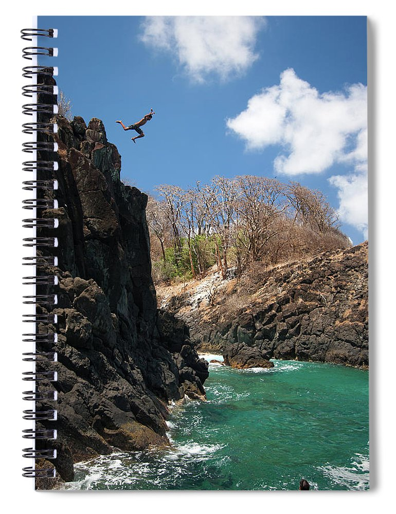 Tranquility Spiral Notebook featuring the photograph Jumping by Mauricio M Favero