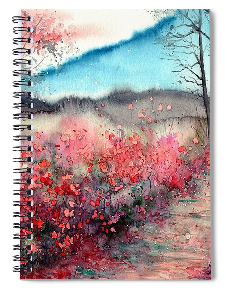Dawn Spiral Notebook featuring the painting Just Before Dawn by Suzann Sines